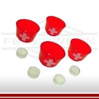 Leuchtbecher rot mit Schweizerkreuz