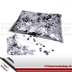 Slow Fall Konfetti: Silber Metallic Raindrops