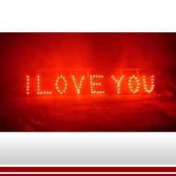 Lichterbild: I LOVE YOU (von uns gezündet)