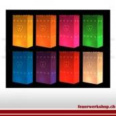 Lichttüten verschiedene Farben(mit Herzen)