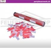 Konfettiwerfer - Stick Rot / Weiss