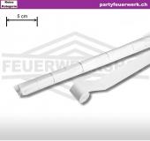 Extrabreite Streamer (Luftschlangen) Papier - weiss