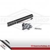 Elektr. Luftschlangen-Kanone 40cm - Metallic silber