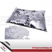 Slow Fall Konfetti: Silber Metallic Sterne