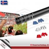 Fan-Konfetti-Shooter für Island